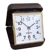 Westclox® Key Wound Brown Travel Analog Alarm Clock