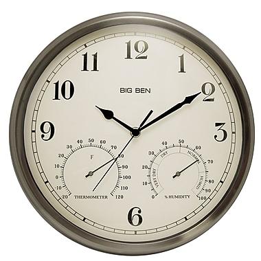 Westclox 49832 Metal Analog Wall Clock Silver Staples