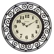 Westclox® 12in. Wrought Iron Look Analog Wall Clock, White