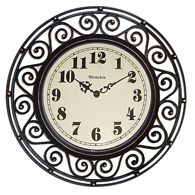 Westclox 32021A Plastic Analog Wall Clock, Black
