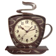 Westclox 32038W Plastic Analog Wall Clock, Brown