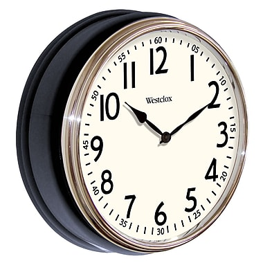 Westclox 32041 Plastic Analog Wall Clock, Black
