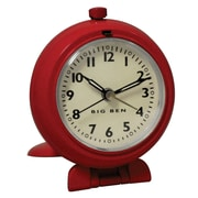 Westclox® Big Ben Analog Travel Alarm Clock, Red