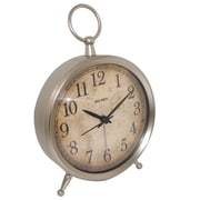 Westclox 49829V Metal Analog Big Ben Table Clock, Silver