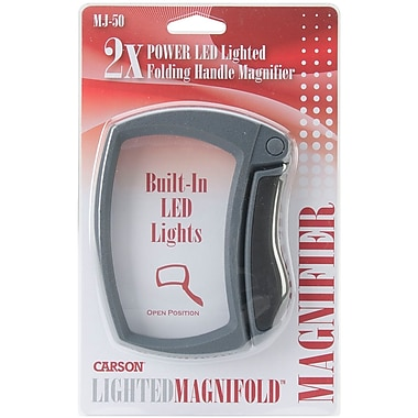 Carson® Optical MJ-50 Lighted Magnifold 2x Power Magnifier