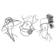 """Ranger 9"""" x 12"""" Dyan Reaveley's Dylusions Couture Clear Stamp, So Many Hats"""