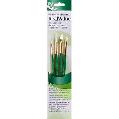 Princeton Artist Brush Real Value White Taklon Brush, 4/Pack (P9117)