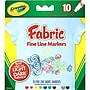 Crayola® Fine Line Fabric Markers, 10/Pack