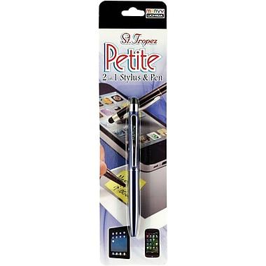 Uchida® St.Tropez Petite 2 in 1 Stylus & Pen With Black Ink, Blue Barrel