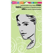 """Stampendous® 4"""" x 6"""" Cling Rubber Stamp, Glance"""