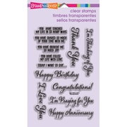 "Stampendous® 4"" x 6"" Perfectly Clear Stamp, Say It Today"