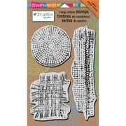 """Stampendous® 5"""" x 8"""" NK Studio Cling Rubber Stamp, Mish Mesh"""