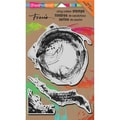 Stampendous® 7in. x 5in. Mixed Media Cling Rubber Stamp, Brush Strokes