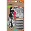 Stampendous® 7in. x 5in. Mixed Media Cling Rubber Stamp, Dress Form