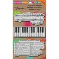 Stampendous® 7in. x 5in. Mixed Media Cling Rubber Stamp, Musical Motif