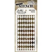 "Stampers Anonymous Tim Holtz® 4 1/8"" x 8 1/2"" Layered Stencil, Harlequin"