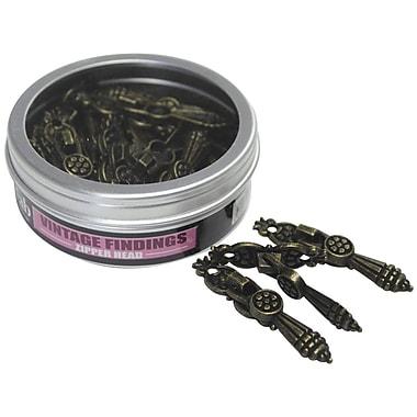Fabscraps Old Brass Embellishment, Vintage Findings Zipper Header