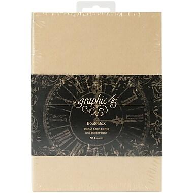 Graphic 45 Staples Tag Kraft Album Book Box, 4.62