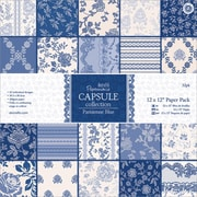 "Docrafts Papermania 12"" x 12"" Paper Pack, Parisienne Blue"