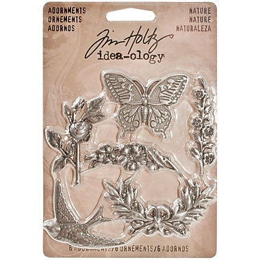 Advantus® Idea-Ology Metal Nature Adornment, Antique Nickel