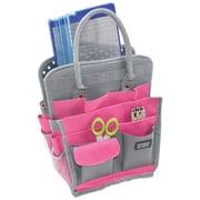 Advantus® Storage Studios Spinning Craft Tote, Pink/Gray