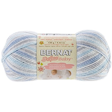 Spinrite® Bernat® Softee Baby Yarn, Ombres, Blue Flannel