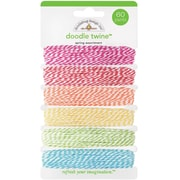 Doodlebug Springtime Doodle Twine Assortment Pack, 60Yds