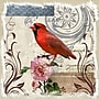 Yosemite Red Cardinal on Linen Canvas Art
