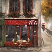 "Yosemite ""Cafe Des Amis"" Canvas Art"