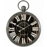 "Yosemite CLKA1384 18"" Pendant Iron Wall Clock and MDF Back Plate"