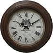 Yosemite CLKA1A097MD 17in. Wall Clock With Distressed Brown Iron Frame