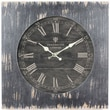 Yosemite CLKA1B1032 18.5in. Wall Clock With Distressed Black Wooden Frame