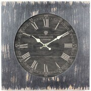 Yosemite CLKA1B1032 18.5 Wall Clock With Distressed Black Wooden Frame
