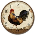 Yosemite CLKA6726 13 1/2in. Wall Clock With Rooster Print