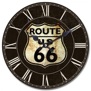 Yosemite CLKA7091 13 1/2 Wall Clock With Route 66 Print