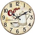 Yosemite CLKA7125 13 1/2in. Wall Clock With Bottomless Coffee Print