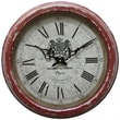 Yosemite CLKA7184ME 16in. Iron Wall Clock With Distressed Red Iron Frame