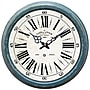 Yosemite CLKA7185ME 16 Wall Clock With Distressed Blue