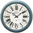 Yosemite CLKA7185ME 16in. Wall Clock With Distressed Blue Iron Frame