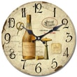 Yosemite CLKA7187 13 1/2in. Wall Clock With Bottle Of Wine Print