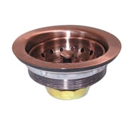 "Yosemite 2 3/4"" Electroplated Strainer Drain For 3 1/2"" Hole, Copper"