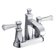 """Yosemite 6"""" Two Handle 4"""" Minispread Lavatory Faucet With Pop-Up Drain, Polished Chrome"""