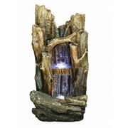 "Yosemite 40.6"" 2 Tiered Fountain, Brown"