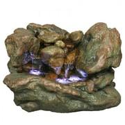 Yosemite 9 Stone Indoor Table Fountain, Brown