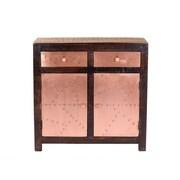 Yosemite 36 Storage Cabinet, Dark Espresso/Aged Copper