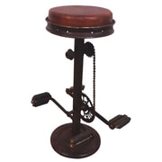 Yosemite Leather Bar Stool, Brown
