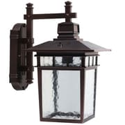 "Yosemite 15"" x 9"" x 11 1/2"" 1-Light Wall Sconce With Water Glass Shade, Oil Rubbed Bronze"