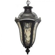 "Yosemite 20"" x 9"" x 9"" 1-Light Hanging PendantW/Clear Water Glass Shade, Oil Weathered Bronze"