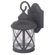 "Yosemite 10 1/2"" x 5 1/2"" x 6 1/2"" 1-Light Exterior Lantern W/Clear Seeded Glass Shade, Black"