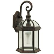"Yosemite 16"" x 8"" x 8"" 1-Light Wall Sconce W/Clear Beveled Glass Shade, Venetian Bronze"
